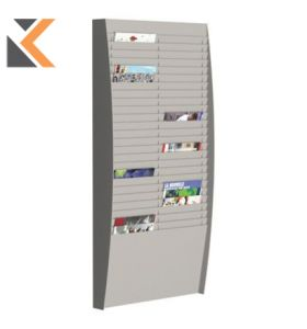 Paperflow Wall Grey Display Rack 50 Compartments