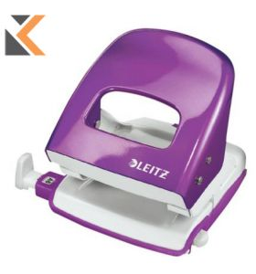 Leitz Wow 2-Hole Punch 5008 Purple  - [30 Sheets]