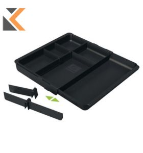 Exacompta Office Drawer insert Adjustable Drawer Insert - [298X246X36mm] Black