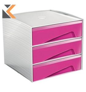 Cep MyCube Mini - [3 Drawer] Unit Gloss Pink