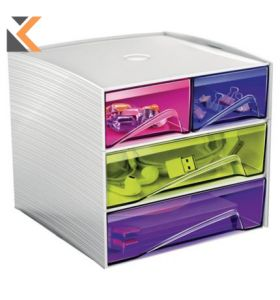 Cep - [1032110811] Mycube Happy 4-Drawer Unit Assorted Colours