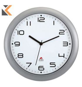 Alba Hornew M Easy Time Round Wall Grey Clock