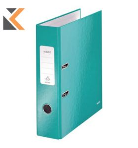 Leitz 180° Wow Laminated A4 , Spine, Lever Arch File Blue ICE - [80mm]
