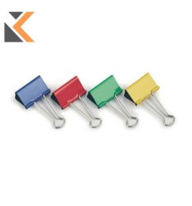 Fold-Back Paper Clips Assorted Colour 32mm - [Pack of 10]