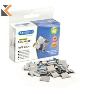 Rapesco Supaclip S/Steel Refill Clips With 40-Sheet Capacity - [Pack of 200]