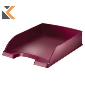 Leitz - [5254] Style Letter Tray Brushed Red