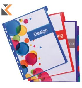 Kreacover Pp Dividers, A4 Maxi, Multi-Coloured - [12 Part]