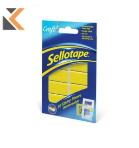 Sellotape 1445286 Removable Sticky Fixers Stickers - [Pack of 10]