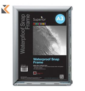Waterproof Snap Frame A4 Silver Size
