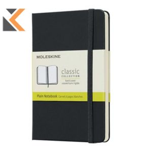 Moleskine Hardcover Notebook Pocket Plain Black - [QP012]