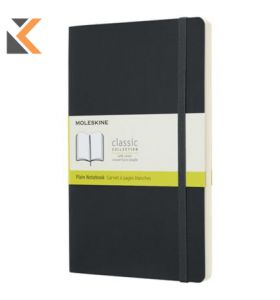 Moleskine QP618 Notebook Softcover  Large Plain Black