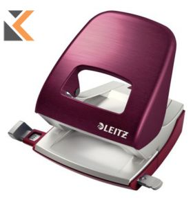 Leitz NeXXt Style 5006 Series-2 Hole Punch Garnet Red - [30 Sheet]