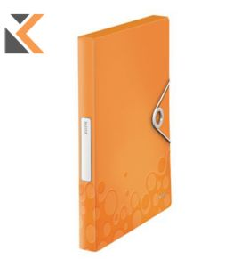 LEITZ WOW BOX FILE POLYPROPYLENE ORANGE