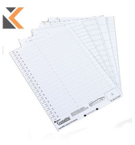 Rexel Crystalfile White Linked Top Suspension Tab File Inserts - [Pack of 50]