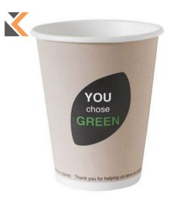 Duni Thank You Cup Green 12Cl - [Pack of 45]