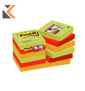 Post It Super Sticky Notes Yellow Pack 12 - [47.6X47.6 mm]