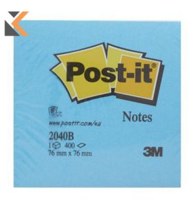 Post-It Note Cube 400 Sheets  Blue - [76x76mm]