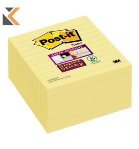 Post-It Super Sticky Notes Lined Yellow Pack Of 6 - [101x101mm]