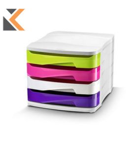 Cep - [1003940381] 4-Drawers Unit Gloss Assorted Colours