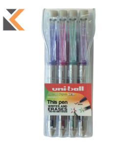 Uniball Signo Tsi Assorted Colours 0.7mm Erasable Gel Pen - [Wallet Of 4]