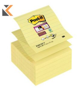 Post It R440-Sscy Super Sticky Z-Note Ruled Yellow Pack of 5 - [101X101mm]