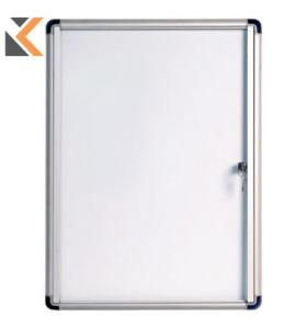 Bi-Office Magnetic Whiteboard Case Glazed - [4xA4]