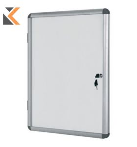 Bi-Office Internal Magnetic Whiteboard Glazed Case - [9xA4]