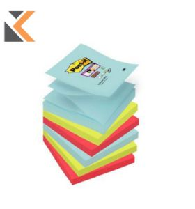 Post-It Super Sticky Miami Colour Z-Notes Pack of 6 - [76X76mm]