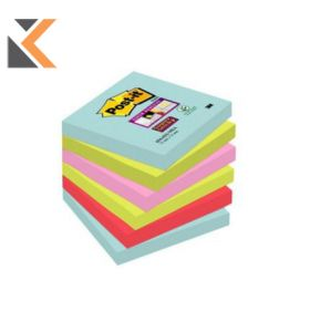 Post-It Super Sticky Miami Notes Pack of 6 - [76X76mm]