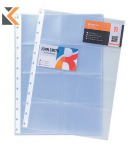 Exacompta Business Card Holder Refill Sheets, A4 - [10 Pockets]