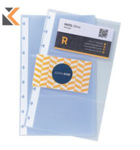 Exacompta Business Card Holder Refill Sheets, A5 - [10 Pockets]