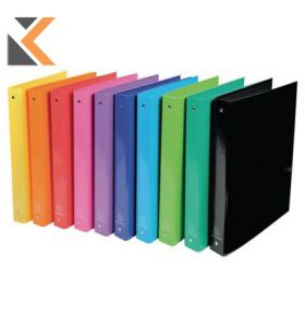 Iderama Ring Binder, 4 Rings, 40mm Spine, 32X26cm - Assorted Colours - [Pack of 10]