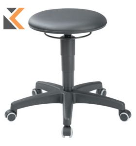 Interstuhl 9468H Industrial Stool- [Black]