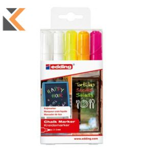 Edding 4095 Assorted Neon Chalk Markers - [Pack of 5]