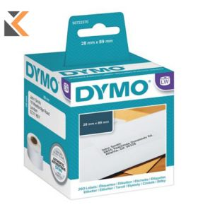 Dymo LW Address Labels, Roll of 130 - [28mm X 89mm]