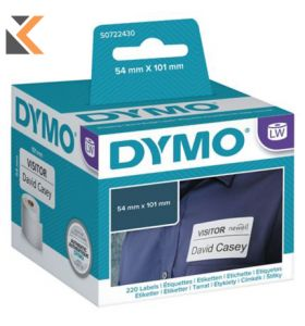 Dymo LW Large Shipping Labels/Name Badges, Roll of 220 - [54mm X 101mm]