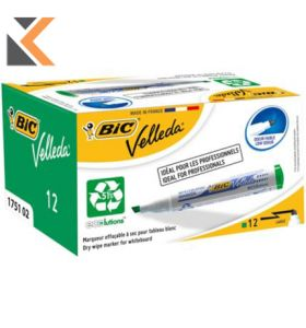 Bic 1754 Whiteboard Markers Chisel Tip Assorted Coloured - [Pack of 4]