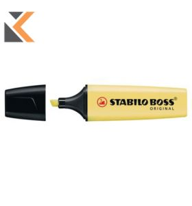 Stabilo Boss Original Pastel Highlighters Milky Yellow - [Pack of 10]