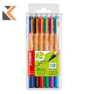 Stabilo Greenpoint Nylon Sign Pen Assorted - [Wallet Of 4]