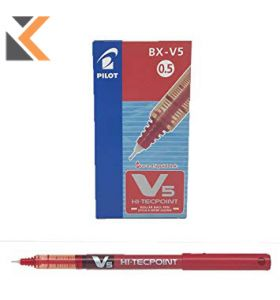 Pilot Hi-Tecpoint V7 Roller Ball Red Pens-0.5mm Line Width - [Box of 12]