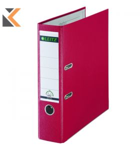 Leitz 180° Polypropylene Foolscap, Spine, Lever Arch Red File - [80mm]