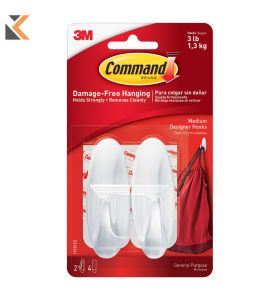 Command Oval Hook Adhesive Med - [Pack 2]