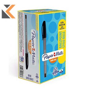 Paper Mate Inkjoy 100ST Capped Ballpoint Pens, Medium, Blue -  [50 Pack]