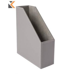 Osco Grypumr1 Magazine File Faux Leather Grey