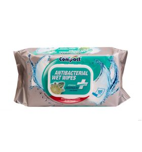 Ultra Compact Antibacterial Wipes – 100 Wipes