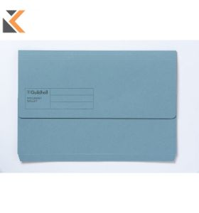 Guildhall Doc Wallet Blue 250 gsm - [Pack of 10]