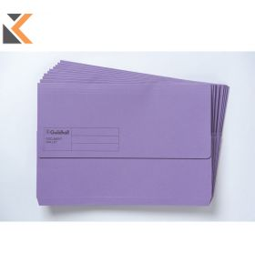 Guildhall Doc Wallet 250 gsm Purple - [Pack of 10]