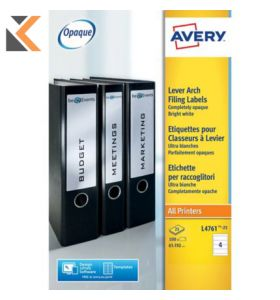 Avery 3666 Multi-Purpose Labels, Permanent, 38.1 x 21.2 mm - [65 Labels Per Sheet]