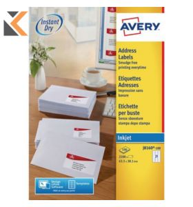 Avery J8160-100 Labels, 21 Labels Per Sheet - [63.5 x 38.1 mm]