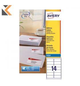 Avery J8160-25 Labels, 21 Labels Per Sheet, 525 Labels Per Pack - [63.5 x 38.1 mm]
